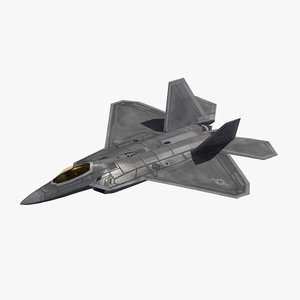 3D model f-22 raptor