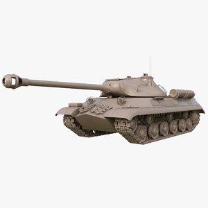 3D tank 3m soviet clay