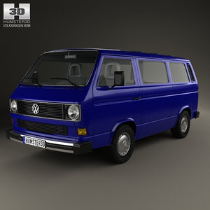 volkswagen transporter t3 3D model