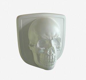 3D printable skull logo