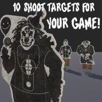 shoot target 3D model