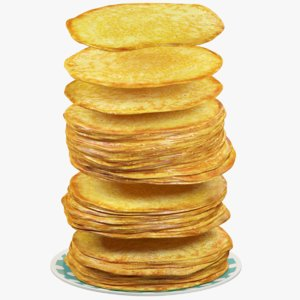 3D pancakes plate