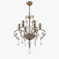 masiero curli 6 chandelier 3D