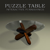 3D model glass puzzle table