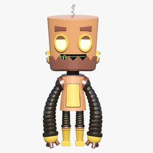 cartoon robot 3D