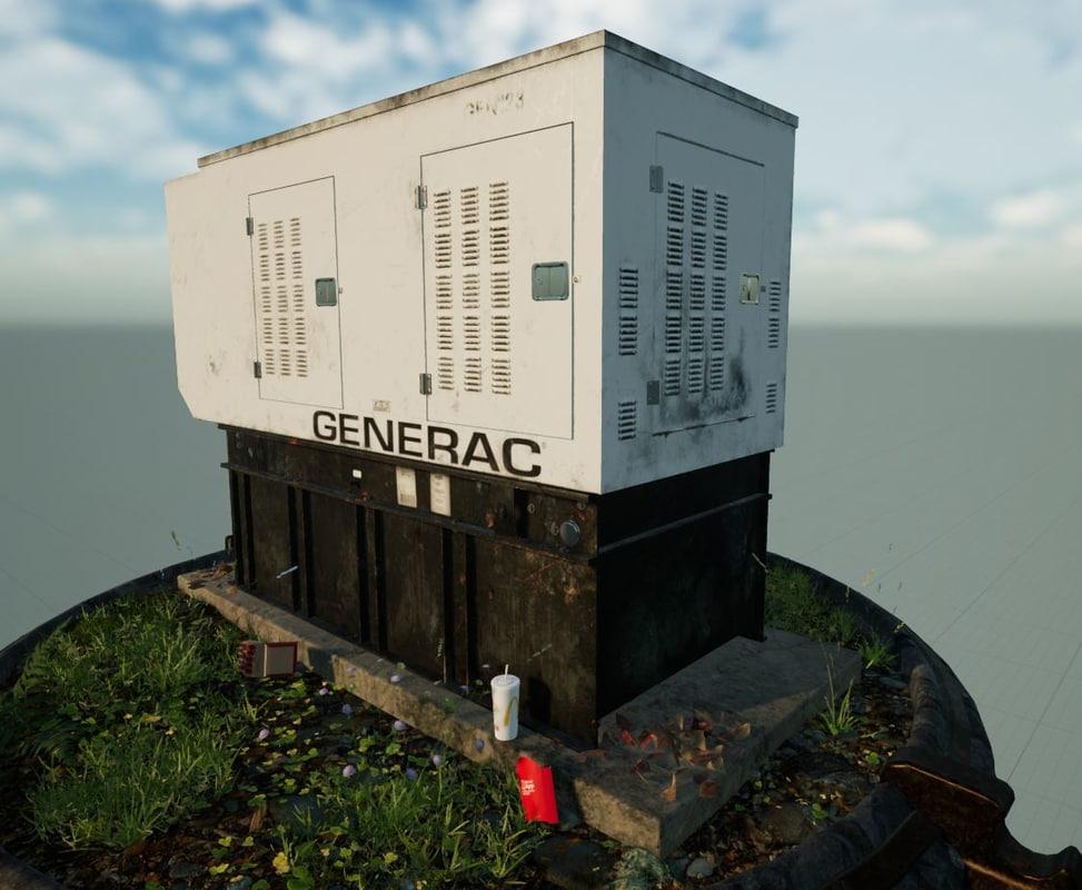 diesel industrial generator - 3D model
