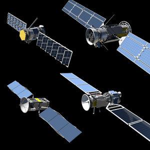 satellite parts 3D model
