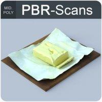 121 butter 3D model