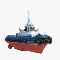 3D model towing ship details