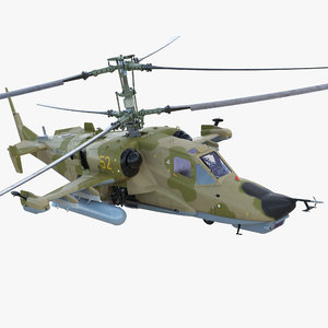 3D attack helicopter kamov ka-50
