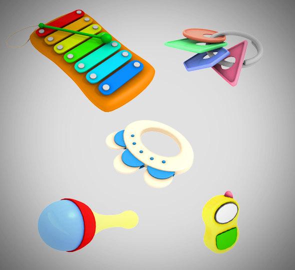 baby toy set 001 3D model