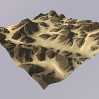 3D terrain games maps model