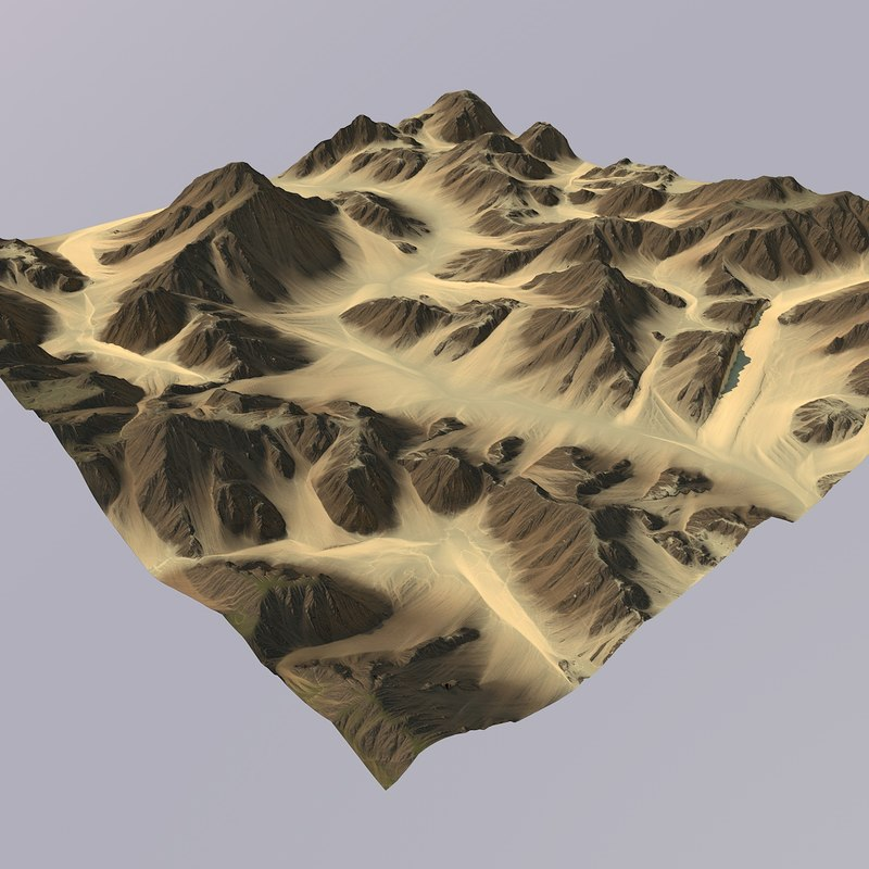 3D terrain games maps model