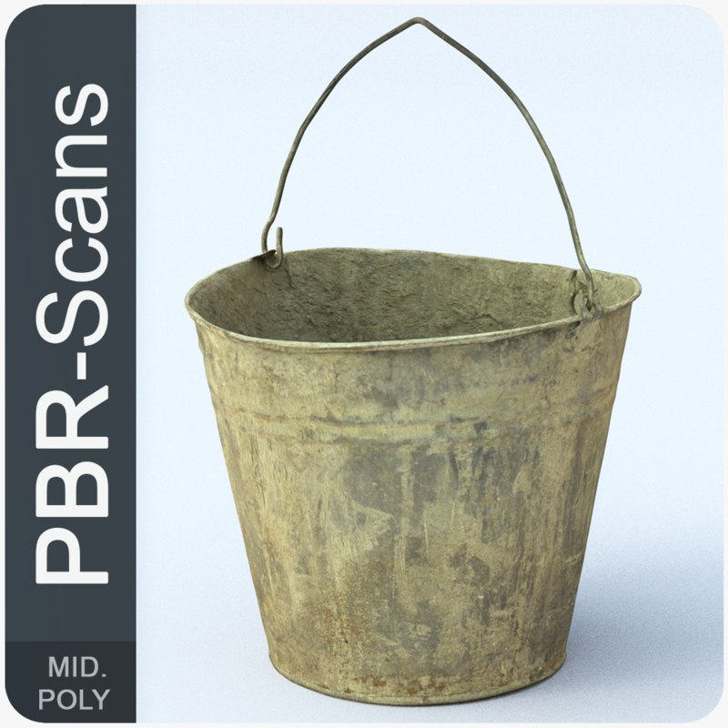 154 bucket 3D model