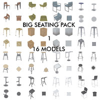 3D big pack chairs bar stools
