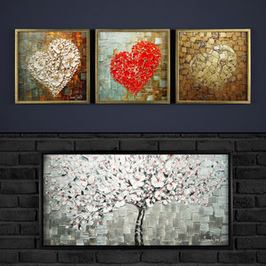 paintings contemporary abstraction 3D model