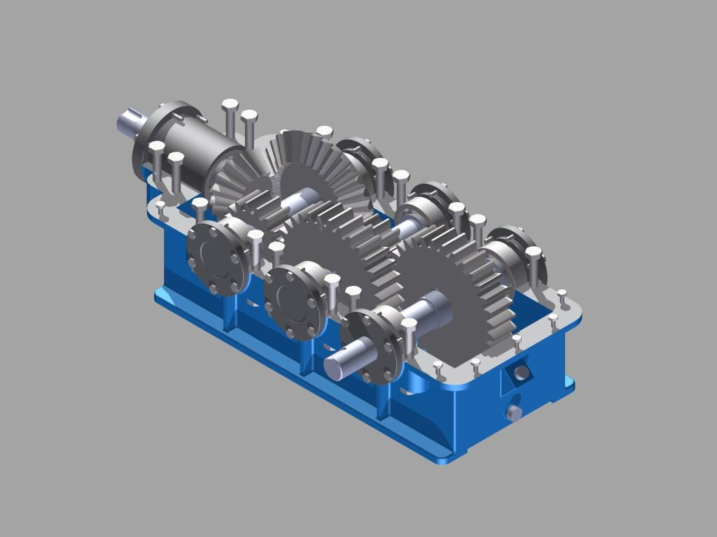 speed gearbox reducer 3D model