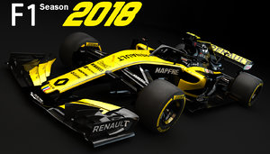f1 renault rs18 2018 3D