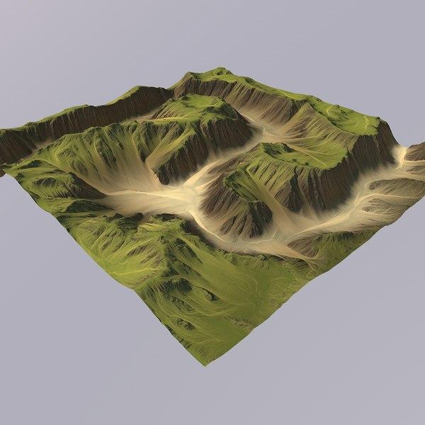 canyon games maps 3D model