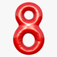 3D balloon numeral model