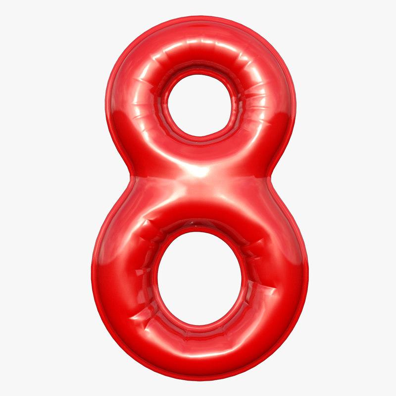 3D balloon numeral model