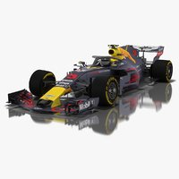3D model grey cat gc14 formula 1