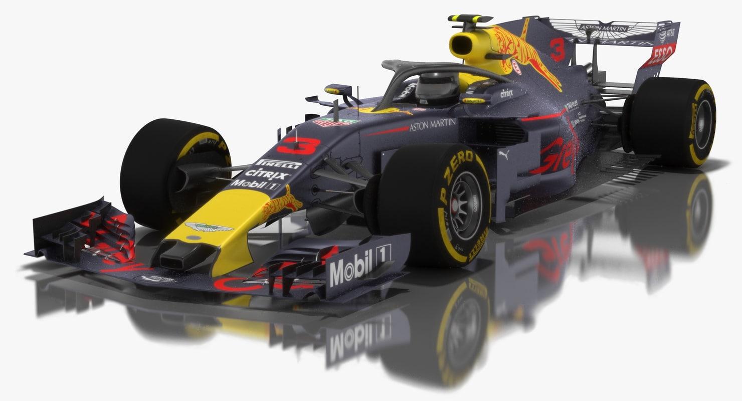 3D model grey cat gc14 formula 1