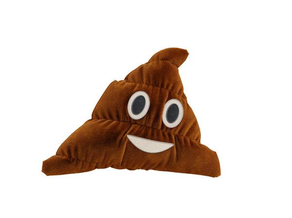 3D poo emoticon pillow