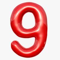 balloon numeral 9