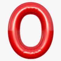 balloon numeral 0