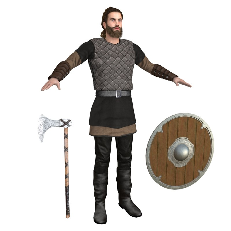 viking rigging man 3D model
