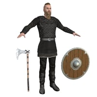 3D model viking rigging man