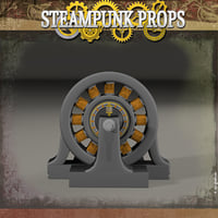 3D steampunk steam