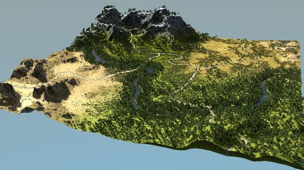scene biomes blender 3D model