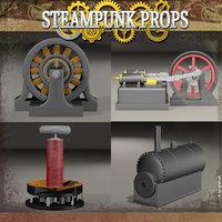3D model steampunk steam engine