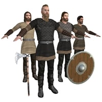 3D viking rigging man