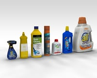 cleaning products 3D model