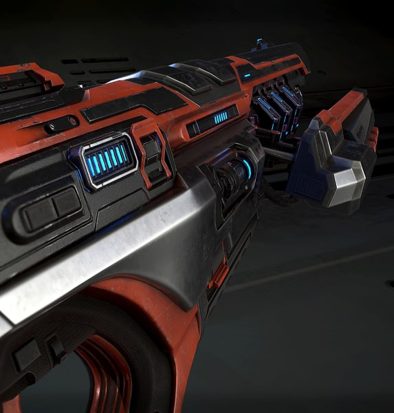 3D futuristic gun model