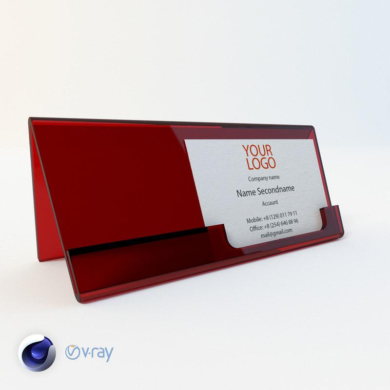 Business card 3D model - TurboSquid 1259522