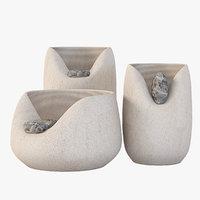 3D vase ceramic