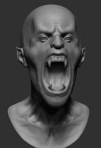 vampire ztl zbrush 3D model