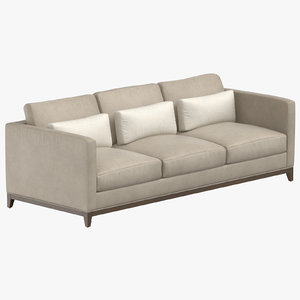 3D model contemporary 3 seater sofa