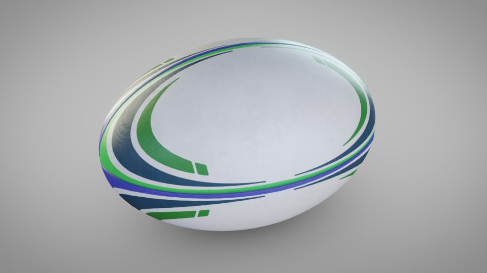 rugby ball 3D model