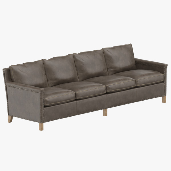 contemporary 4 seater sofa 3D