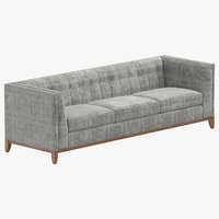 contemporary 5 seater sofa 3D model