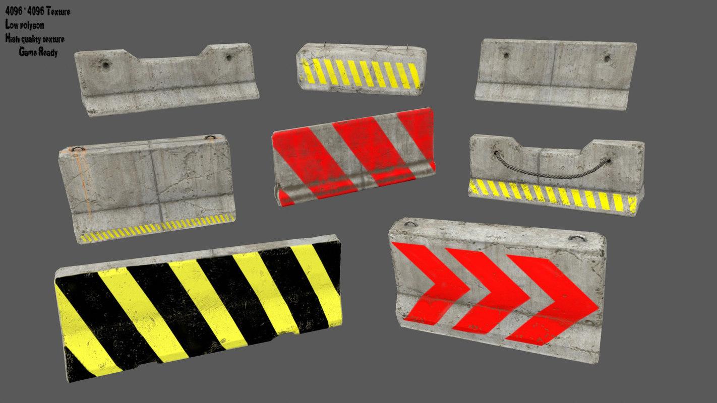 barrier bar 3D model