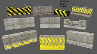 3D model barrier 4