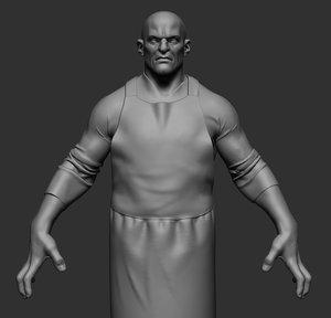 3D butcher ztl zbrush