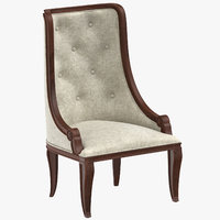 3D classical dining chair model