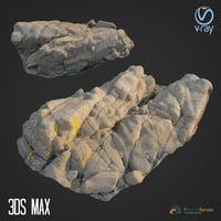 scanned rock cliff g 3D